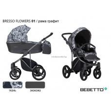 """Детская коляска """"BEBETTO"""" BRESSO FLOWERS  2В1"""