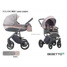 """Детская коляска """"BEBETTO"""" HOLLAND 3В1  (черное автокресло)"""